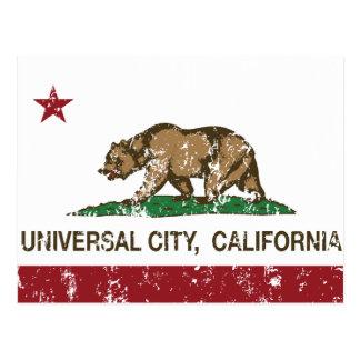 Cidade do universal da bandeira da república de Ca Cartoes Postais