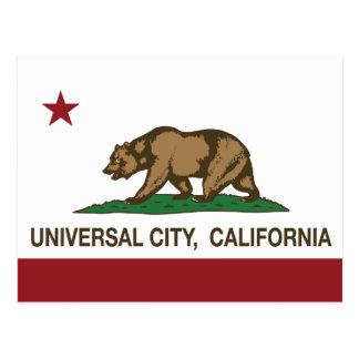 Cidade do universal da bandeira da república de cartão postal