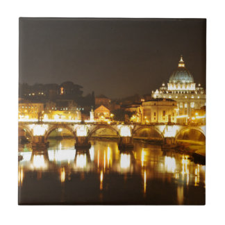 Cidade do Vaticano, Roma, Italia na noite