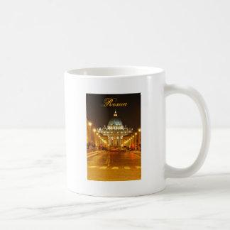 Cidade do Vaticano, Roma, Italia na noite Caneca De Café