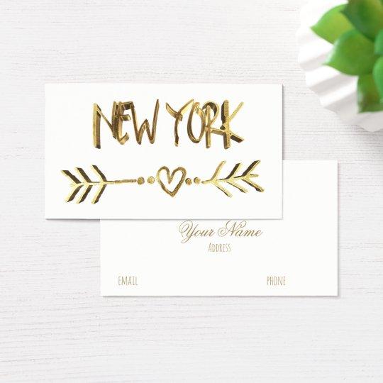 Cidade dos EUA da tipografia do olhar do ouro de Cartão De Visitas