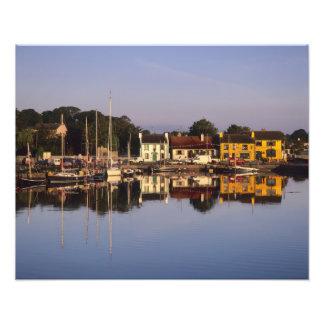 Cidade e porto, Kinvarra, condado Galway, Impressão De Foto