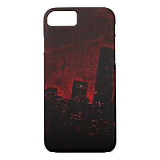 Cidade escura - vermelho - iPhone 6/6s, mal lá Capa iPhone 8/ 7