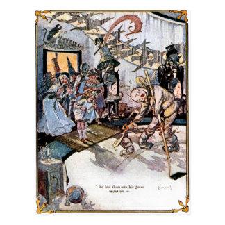 Cidade esmeralda do cartão da onça cartão postal