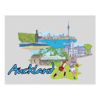 Cidade famosa de Auckland, Nova Zelândia Cartão Postal
