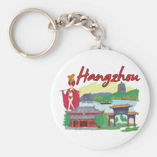 Cidade famosa de Hangzhou, China Chaveiro