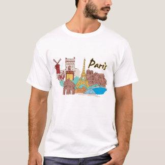 Cidade famosa de Paris, France Camiseta