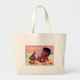 Cidade galão da reggae na praia bolsas para compras