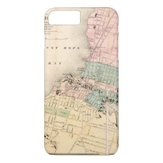 Cidade mapa de Fall River, Massachusetts (1874) Capa iPhone 7 Plus