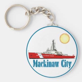 Cidade Michigan de Mackinaw Chaveiro