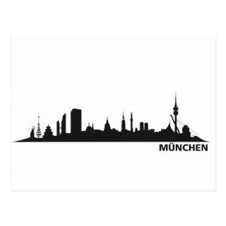 Cidade München - Skyline 1c Cartoes Postais