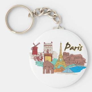Cidade mundialmente famosa de Paris, France Chaveiro