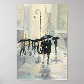 Cidade na chuva pôster
