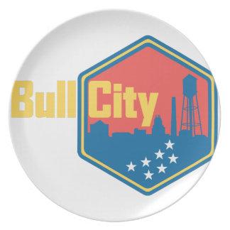 Cidade NC de Bull Pratos De Festas