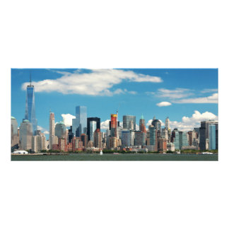 Cidade - New York NY - a skyline de New York 10.16 X 22.86cm Panfleto
