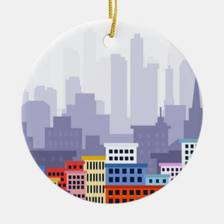 Cidade Ornamento De Cerâmica