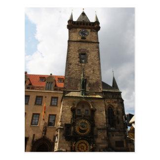 Cidade velha de Praga, câmara municipal, cartão da