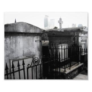"""""""Cidades"""" da foto inoperante do cemitério de Nova  Impressão De Foto"""