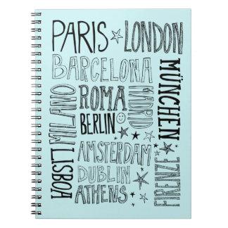 Cidades de presentes modernos chiques da cidade da caderno espiral