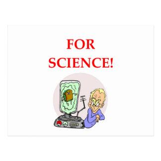 ciência cartão postal