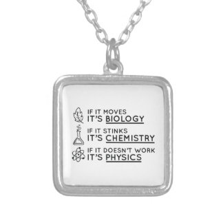 Ciência Colar Banhado A Prata