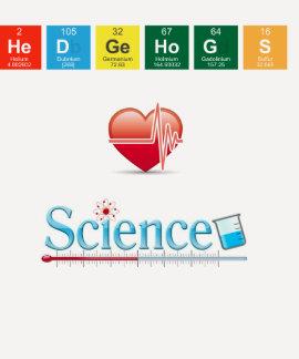 Ciência do amor dos ouriços camiseta