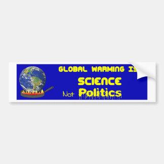 Ciência do aquecimento global adesivo para carro