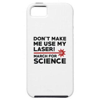 Ciência março do laser capa tough para iPhone 5
