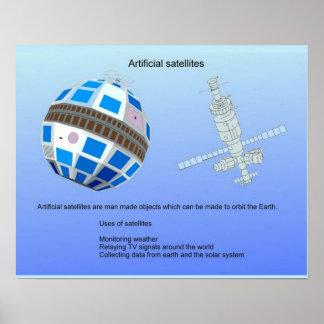 Ciência, satélites artificiais poster