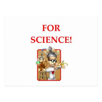 cientista louco cartão postal
