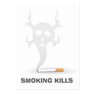 Cigarro com fumo do scull, cartão anti-fumaça