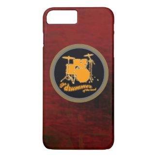 cilindro vermelho do amarelo do fundo capa iPhone 7 plus