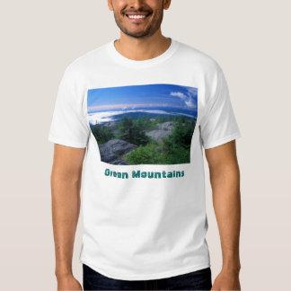 Cimeira da fome da montagem, montanhas verdes t-shirts