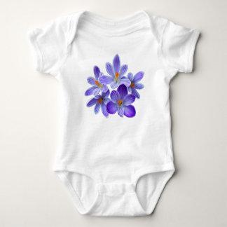 Cinco açafrões violetas 05,0, cumprimentos do body para bebê