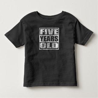 Cinco anos velho - 5a camisa feliz do aniversário