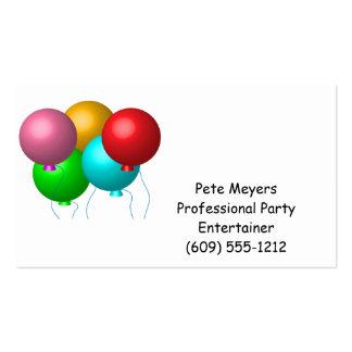 Cinco balões do aniversário modelos cartoes de visitas