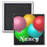 Cinco balões do aniversário imas