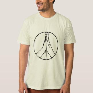 Cinco camisetas altas do sinal de paz, arte do