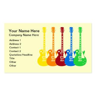 Cinco guitarra elétricas coloridas cartao de visita