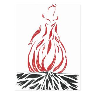Cinderella abstrata Phoenix Cartão Postal