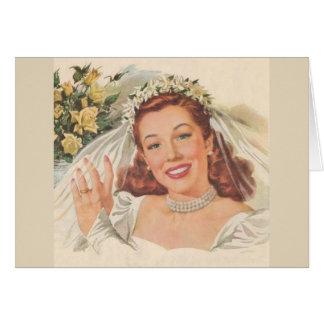 Cinderella casou-se, cartão