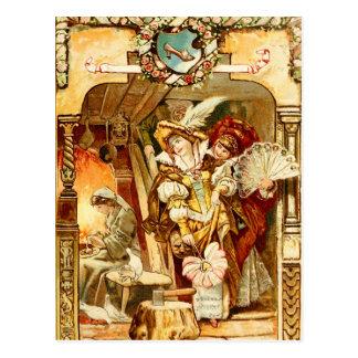 Cinderella e as irmãs adoptivas más cartão postal