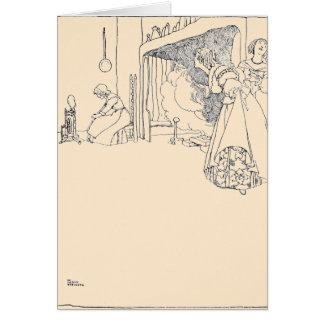 Cinderella e suas duas irmãs cartão