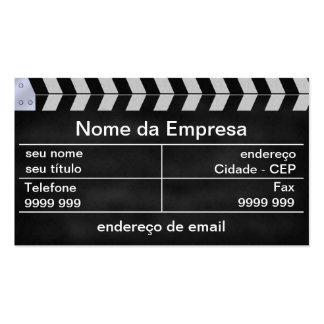cinema clap cartão de visita