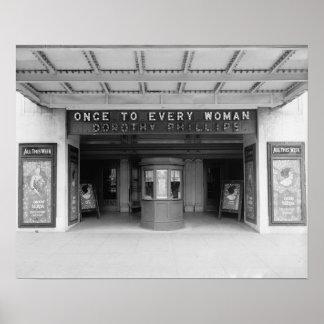 Cinema de Rialto, 1920. Foto do vintage Poster