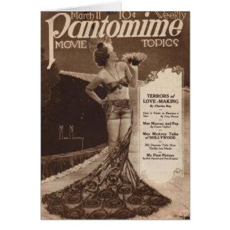 Cinema do vintage: Cartão de Mae Murray