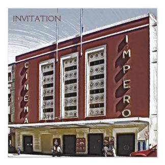 Cinema Impero, Asmara Convite Quadrado 13.35 X 13.35cm
