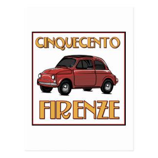 Cinquecento Firenze - cartão de Fiat 500 Florença