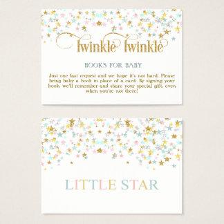 Cintilação poucos livros da estrela para o cartão