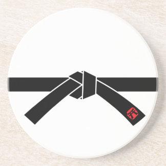 Cinturão negro, 黒帯 das artes marciais, 武道 porta copos de arenito